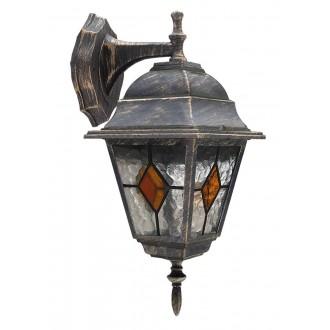 RABALUX 8181 | Monaco Rabalux zidna svjetiljka 1x E27 IP43 antik zlato, crveno, prozirna