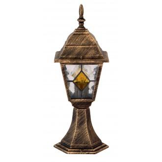 RABALUX 8183 | Monaco Rabalux podna svjetiljka 42cm 1x E27 IP43 antik zlato, crveno, prozirna