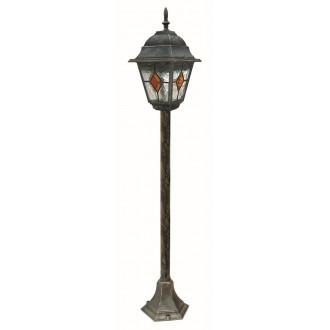 RABALUX 8185 | Monaco Rabalux podna svjetiljka 106cm 1x E27 IP43 antik zlato, crveno, prozirna