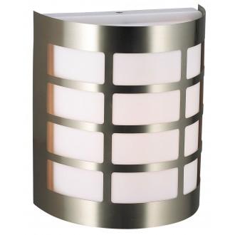 RABALUX 8199 | SevillaR Rabalux zidna svjetiljka 1x E27 IP44 UV plemeniti čelik, čelik sivo, bijelo