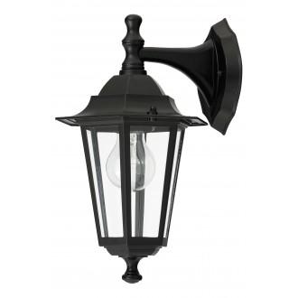 RABALUX 8202 | Velence1 Rabalux zidna svjetiljka 1x E27 IP43 crno, prozirno