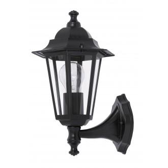RABALUX 8204 | Velence1 Rabalux zidna svjetiljka 1x E27 IP43 crno, prozirno