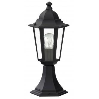 RABALUX 8206 | Velence1 Rabalux podna svjetiljka 40cm 1x E27 IP43 crno, prozirno