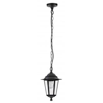RABALUX 8208 | Velence1 Rabalux visilice svjetiljka 1x E27 IP43 crno, prozirno