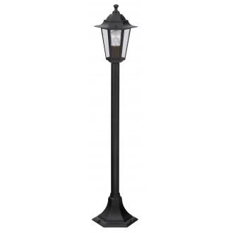RABALUX 8210 | Velence1 Rabalux podna svjetiljka 105cm 1x E27 IP43 crno, prozirno
