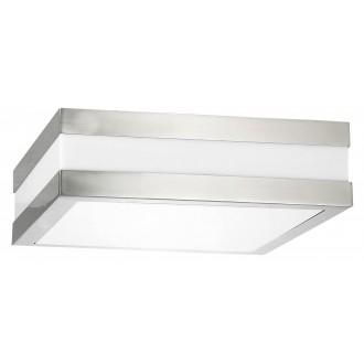 RABALUX 8227 | Stuttgart Rabalux stropne svjetiljke svjetiljka 2x E27 IP44 UV plemeniti čelik, čelik sivo, bijelo