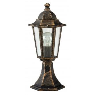 RABALUX 8236 | Velence Rabalux podna svjetiljka 40cm 1x E27 IP43 antik zlato, prozirno