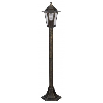 RABALUX 8240 | Velence Rabalux podna svjetiljka 105cm 1x E27 IP43 antik zlato, prozirno