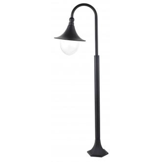 RABALUX 8247 | Konstanz Rabalux podna svjetiljka 120cm 1x E27 IP44 UV crno, prozirno