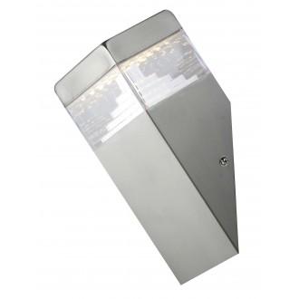 RABALUX 8249 | Genf Rabalux zidna svjetiljka 1x LED 450lm 4000K IP54 plemeniti čelik, čelik sivo