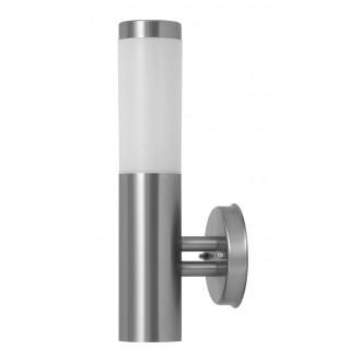 RABALUX 8262 | Inox Rabalux zidna svjetiljka 1x E27 IP44 UV plemeniti čelik, čelik sivo, bijelo