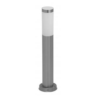 RABALUX 8263 | Inox Rabalux podna svjetiljka 45cm 1x E27 IP44 UV plemeniti čelik, čelik sivo, bijelo