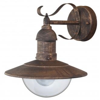 RABALUX 8271 | OsloR Rabalux zidna svjetiljka 1x E27 IP44 UV antik zlato, prozirno