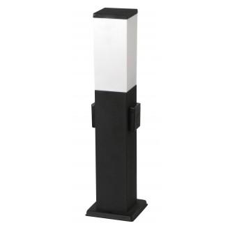RABALUX 8339 | Bonn Rabalux podna svjetiljka 50cm s utičnicom 1x E27 IP44 UV crno mat, bijelo