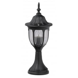 RABALUX 8343 | Milano1 Rabalux podna svjetiljka 43cm 1x E27 IP43 crno, prozirno