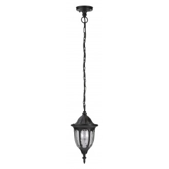 RABALUX 8344 | Milano1 Rabalux visilice svjetiljka 1x E27 IP43 crno, prozirno