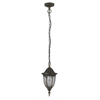 RABALUX 8374 | Milano Rabalux visilice svjetiljka 1x E27 IP43 antik zlato, prozirno