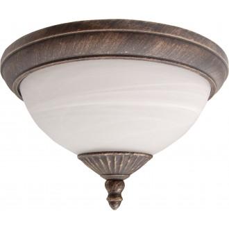 RABALUX 8377 | Madrid Rabalux stropne svjetiljke svjetiljka 2x E27 IP43 antik zlato, bijelo alabaster