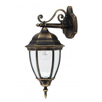 RABALUX 8381 | TorontoR Rabalux zidna svjetiljka 1x E27 IP44 antik zlato, prozirno