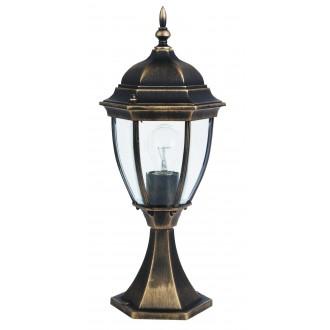 RABALUX 8383 | TorontoR Rabalux podna svjetiljka 49,5cm 1x E27 IP44 antik zlato, prozirno