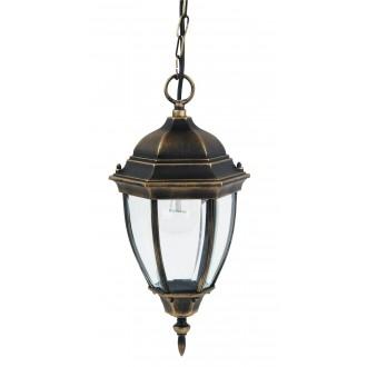 RABALUX 8384 | TorontoR Rabalux visilice svjetiljka 1x E27 IP44 antik zlato, prozirno