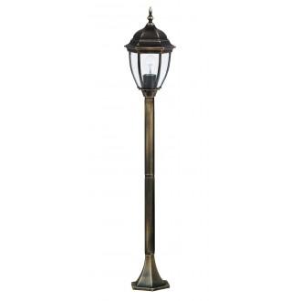RABALUX 8385 | TorontoR Rabalux podna svjetiljka 113cm 1x E27 IP44 antik zlato, prozirno