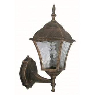 RABALUX 8392 | Toscana Rabalux zidna svjetiljka 1x E27 IP43 antik zlato, prozirna