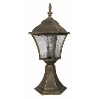 RABALUX 8393 | Toscana Rabalux podna svjetiljka 41,5cm 1x E27 IP43 antik zlato, prozirna