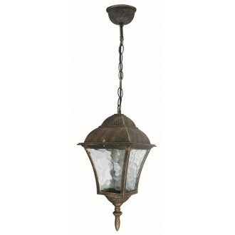RABALUX 8394 | Toscana Rabalux visilice svjetiljka 1x E27 IP43 antik zlato, prozirna