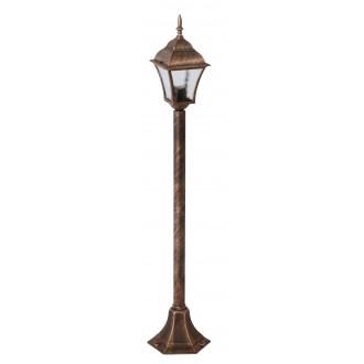 RABALUX 8395 | Toscana Rabalux podna svjetiljka 106cm 1x E27 IP43 antik zlato, prozirna