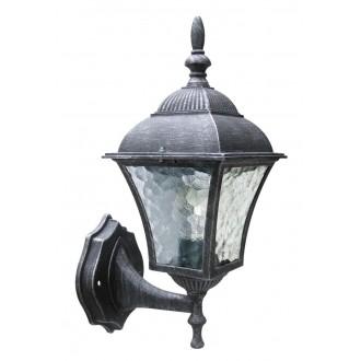 RABALUX 8397 | Toscana Rabalux zidna svjetiljka 1x E27 IP43 antik srebrna, prozirna