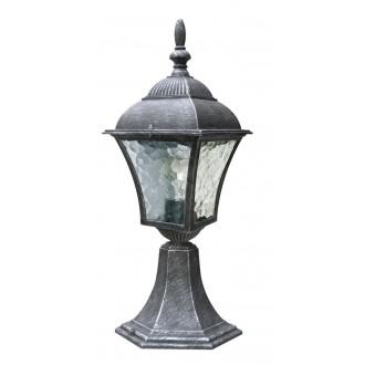 RABALUX 8398 | Toscana Rabalux podna svjetiljka 41,5cm 1x E27 IP43 antik srebrna, prozirna