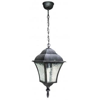 RABALUX 8399 | Toscana Rabalux visilice svjetiljka 1x E27 IP43 antik srebrna, prozirna