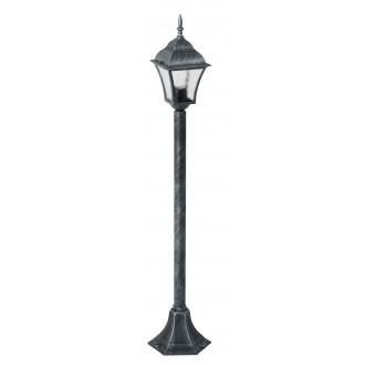 RABALUX 8400 | Toscana Rabalux podna svjetiljka 106cm 1x E27 IP43 antik srebrna, prozirna