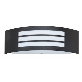 RABALUX 8409 | Roma Rabalux zidna svjetiljka 1x E27 IP44 UV crno mat