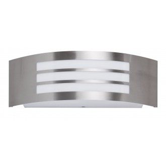 RABALUX 8410   Roma Rabalux zidna svjetiljka 1x E27 IP44 UV plemeniti čelik, čelik sivo