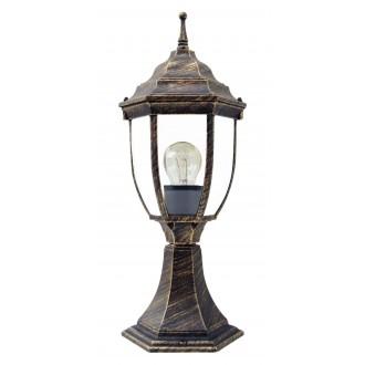RABALUX 8453 | Nizza Rabalux podna svjetiljka 41,5cm 1x E27 IP43 antik zlato, prozirno