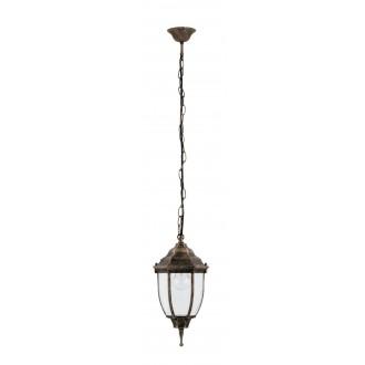 RABALUX 8454 | Nizza Rabalux visilice svjetiljka 1x E27 IP43 antik zlato, prozirno