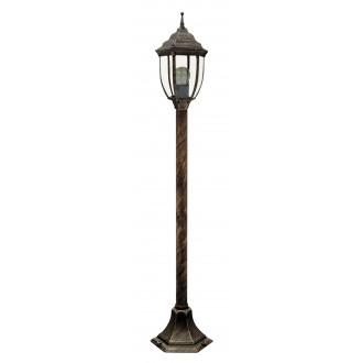 RABALUX 8455 | Nizza Rabalux podna svjetiljka 104,5cm 1x E27 IP43 antik zlato, prozirno