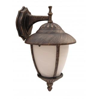 RABALUX 8476 | Madrid Rabalux zidna svjetiljka 1x E27 IP43 antik zlato, bijelo alabaster