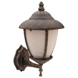 RABALUX 8477 | Madrid Rabalux zidna svjetiljka 1x E27 IP43 antik zlato, bijelo alabaster