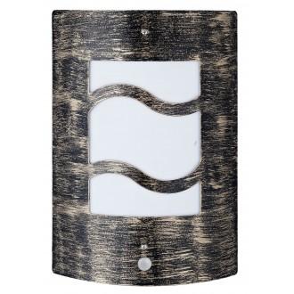 RABALUX 8518 | DenverR Rabalux zidna svjetiljka sa senzorom 1x E27 IP44 UV antik zlato, bijelo