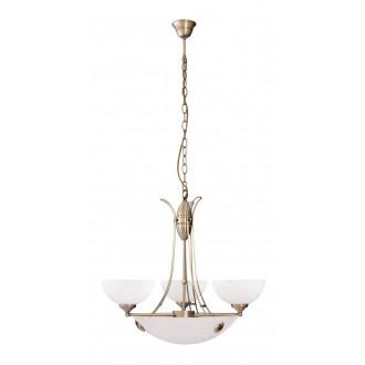RABALUX 8523 | Pearl-classic Rabalux luster svjetiljka 3x E14 + 3x E27 bronca, bijelo alabaster