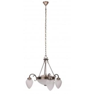 RABALUX 8533 | Maya Rabalux luster svjetiljka 3x E14 + 2x E27 bronca, opal