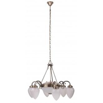 RABALUX 8536 | Maya Rabalux luster svjetiljka 6x E14 + 2x E27 bronca, opal