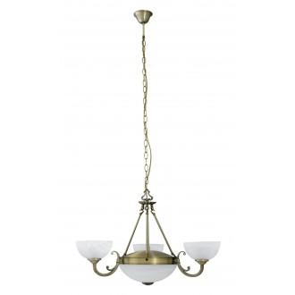 RABALUX 8543   Marlene Rabalux luster svjetiljka 3x E14 + 2x E27 bronca, bijelo alabaster