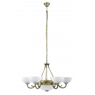RABALUX 8546 | Marlene Rabalux luster svjetiljka 6x E14 + 2x E27 bronca, bijelo alabaster