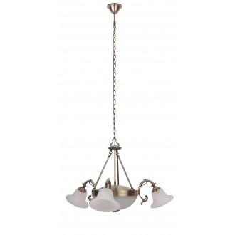 RABALUX 8553   Orchidea Rabalux luster svjetiljka 3x E14 + 2x E27 bronca, bijelo alabaster