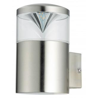 RABALUX 8559 | CharlotteR Rabalux zidna svjetiljka 1x GU10 340lm 3000K IP44 UV plemeniti čelik, čelik sivo
