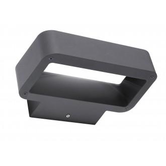 RABALUX 8564 | Tokio Rabalux zidna svjetiljka 1x LED 480lm 3000K IP54 tamno sivo